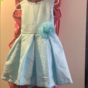 Baby blue dress for a toddler girl